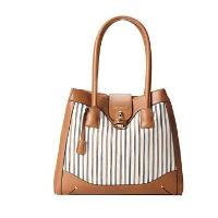 London Fog - Lark Tote (White Woven) - Bags and Luggage