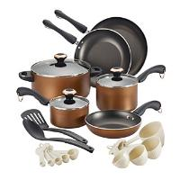 Paula+Deen+Signature+Copper+Dishwasher+Safe+20-pc.+Cookware+Set