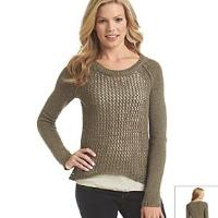 Relativity+Open+Stitch+2Fer+Sweater+Women%27s