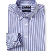 Stafford Signature Non-Iron 100% Cotton Dress Shirt-Big & Tall