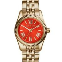 Michael Kors Women's Petite Lexington Gold-Tone Stainless Steel Bracelet Watch 26mm MK3284