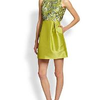 Sequined Faille Racerback Dress