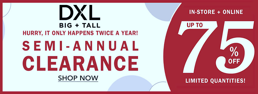 Semi-Annual Clearance! Take up to 75% off.