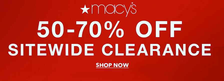 Take 50-70% off Sitewide Clearance