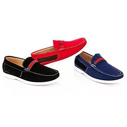 Franco Vanucci Men's Slip-on Boat Shoes