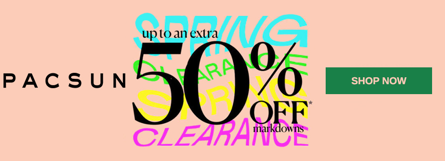 Up to an extra 50% Off markdowns