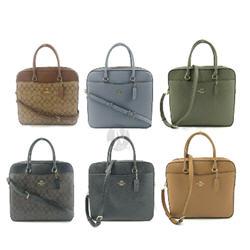 Coach Leather Laptop Briefcase Bag